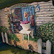 """Для дома и интерьера ручной работы. Ярмарка Мастеров - ручная работа ключница  """" Сад""""  для прихожей.. Handmade."""