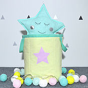 Корзины ручной работы. Ярмарка Мастеров - ручная работа Корзина для хранения со звездой. Handmade.