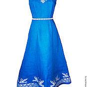 Одежда ручной работы. Ярмарка Мастеров - ручная работа Платье с обережной вышивкой. Handmade.