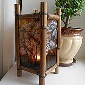 Для дома и интерьера ручной работы. Ярмарка Мастеров - ручная работа китайский подсвечник / светильник. Handmade.