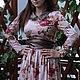"""Платья ручной работы. Заказать Длинное платье """"Цветы и кожа"""". Yansons Domik (yansonsdomik). Ярмарка Мастеров. Платье, платье макси"""