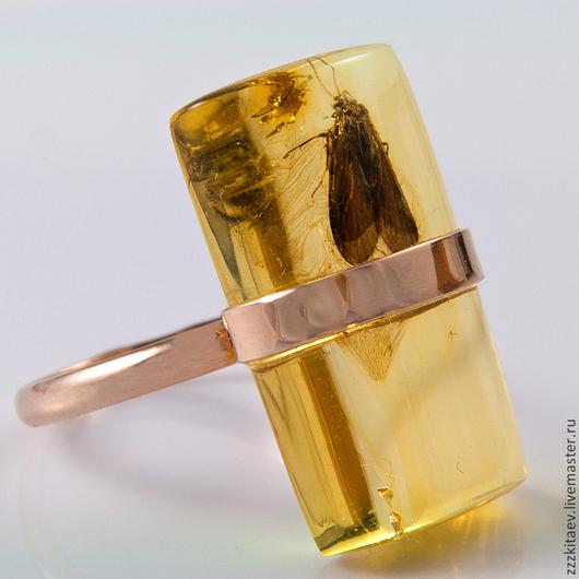 Кольца ручной работы. Ярмарка Мастеров - ручная работа. Купить кольцо ЗОЛОТАЯ МОЛЬ. Handmade. Золотой, другое золото