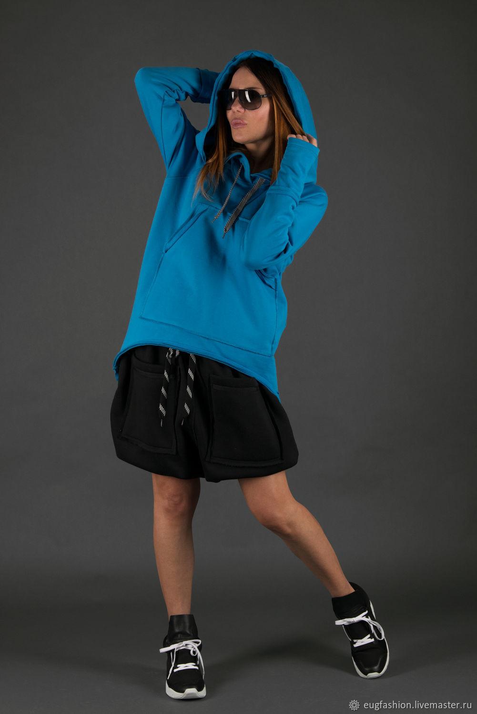 Sports sweatshirt, Sweatshirt with pockets and hood-TP0709W3, Sweater Jackets, Sofia,  Фото №1