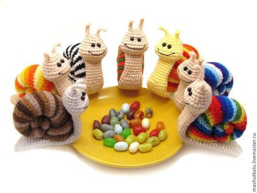 Игрушки животные, ручной работы. Ярмарка Мастеров - ручная работа. Купить А какого цвета твоё хорошее настроение? - улитка - вязаная игрушка. Handmade.