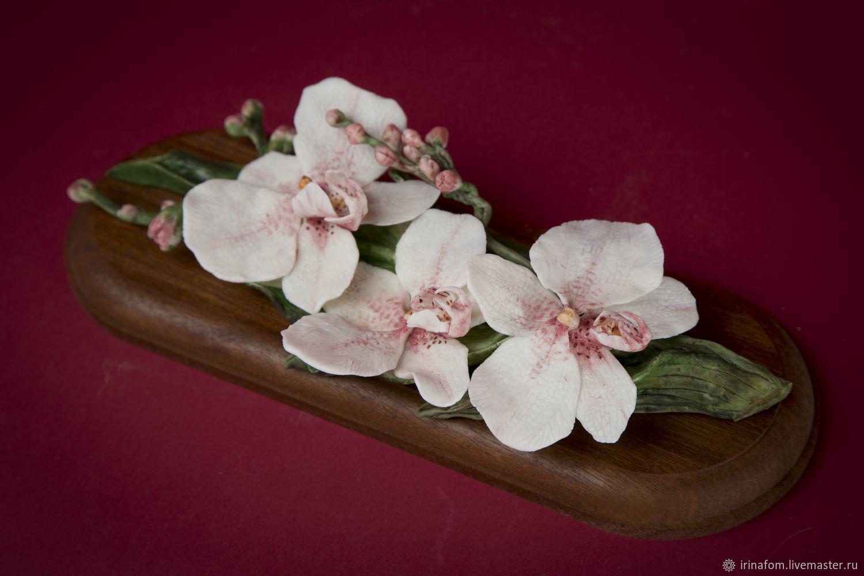 Орхидеи из фарфора обжиг 1220 градусов, Статуэтки, Санкт-Петербург,  Фото №1