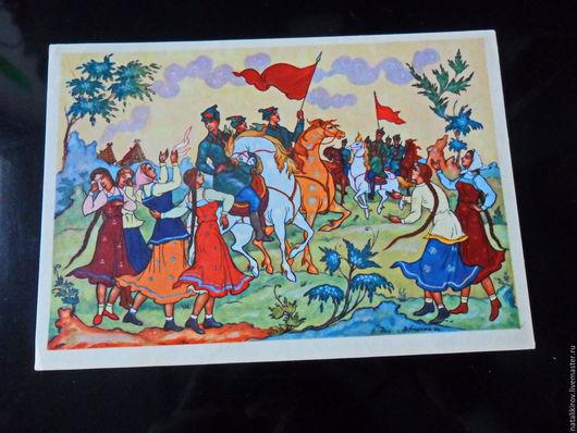 Винтажные книги, журналы. Ярмарка Мастеров - ручная работа. Купить Советские открытки.. Handmade. Комбинированный, в коллекцию