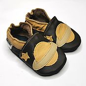 Одежда детская handmade. Livemaster - original item Baby Shoes Space, Leather Baby Slippers,  Saturn Baby Shoes. Handmade.