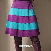 Одежда ручной работы. Ярмарка Мастеров - ручная работа Замшевая юбка. Handmade.
