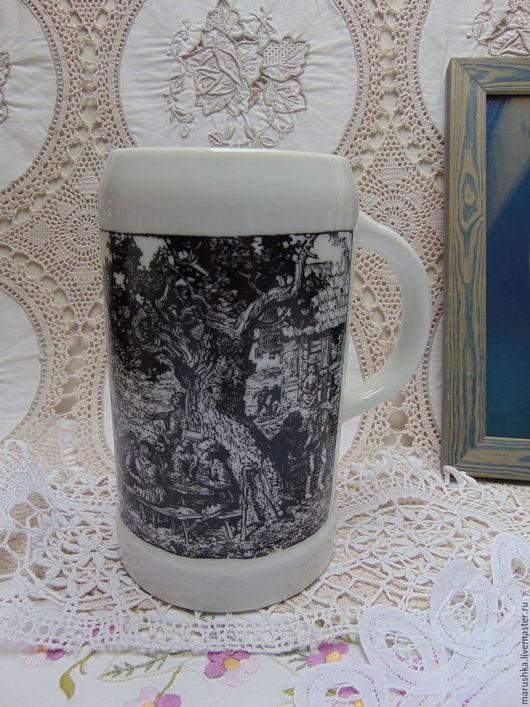 Винтажная посуда. Ярмарка Мастеров - ручная работа. Купить Австрийская пивная кружка, 1978 г. , редкая. Handmade. Чёрно-белый