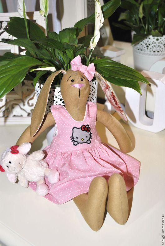 Куклы Тильды ручной работы. Ярмарка Мастеров - ручная работа. Купить Моя любимица (Зайка Тильда). Handmade. Розовый, заинька