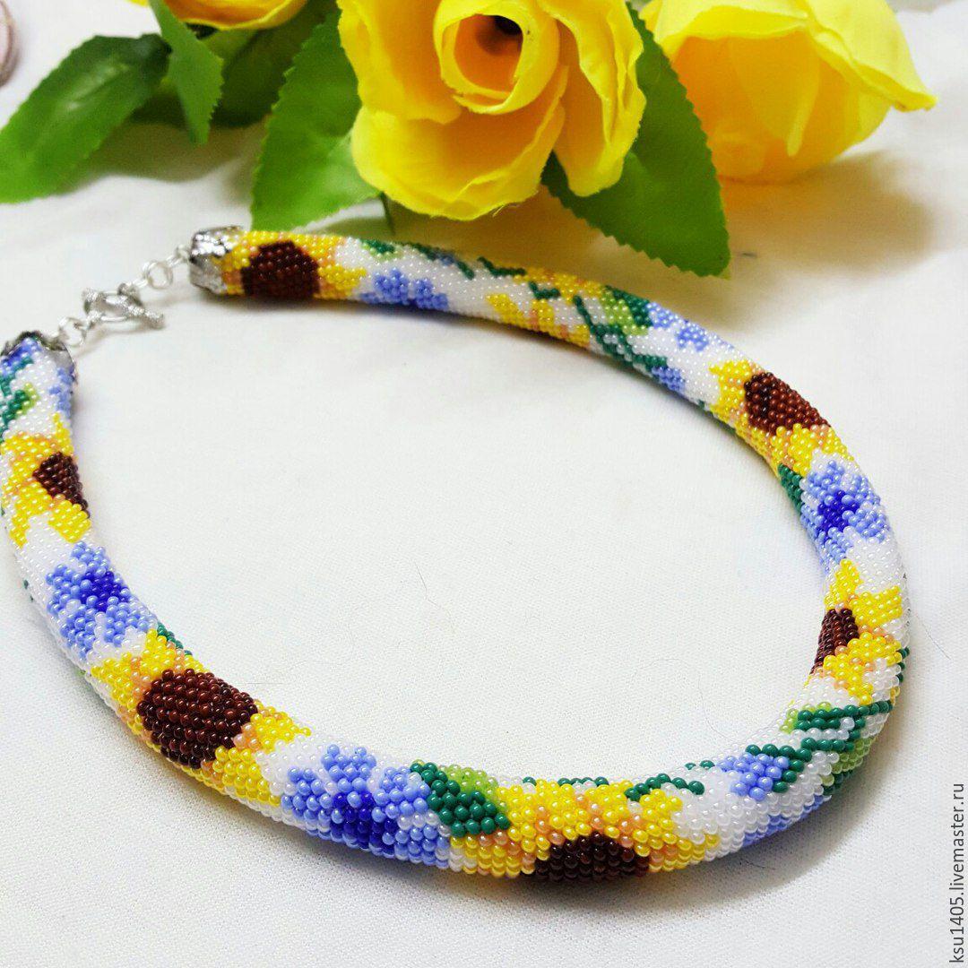 Harness choker ' Sunflowers', Necklace, St. Petersburg,  Фото №1