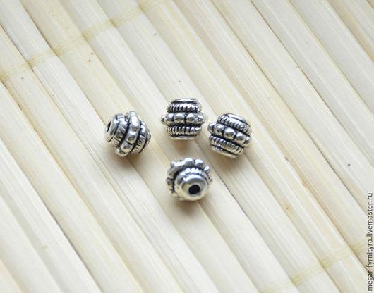 Для украшений ручной работы. Ярмарка Мастеров - ручная работа. Купить Бусина 7 x 7 мм Серебро. Handmade.