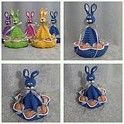 Подарки к праздникам ручной работы. Ярмарка Мастеров - ручная работа Пасхальный кролик с бантиками. Handmade.