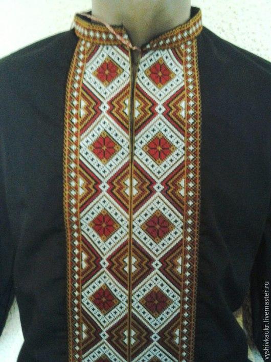 Одежда ручной работы. Ярмарка Мастеров - ручная работа. Купить Вышиванка мужская 9. Handmade. Разноцветный, вышивка