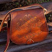 Сумки и аксессуары handmade. Livemaster - original item Women`s leather bag shoulder red. Handmade.