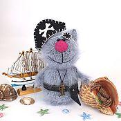 Куклы и игрушки ручной работы. Ярмарка Мастеров - ручная работа Кот Пират. (Вязаная игрушка, подарок). Handmade.