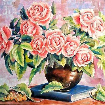 Картины и панно ручной работы. Ярмарка Мастеров - ручная работа Нежный розовый букет. Handmade.