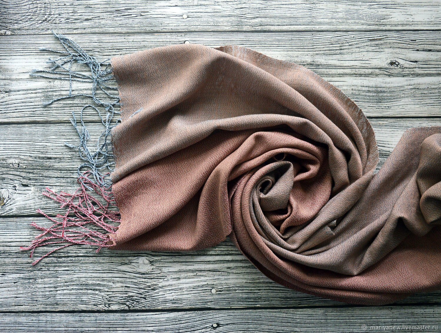 Stole hand weaving ' Ashes of the rose', Wraps, Smolensk,  Фото №1