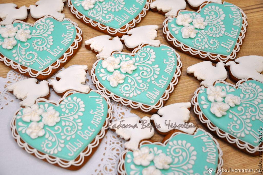 Печенье открытка на свадьбу, люблю