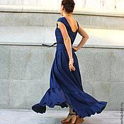 Одежда ручной работы. Ярмарка Мастеров - ручная работа Длинное льняное платье в пол РАДА. Handmade.