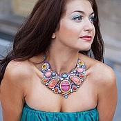 "Necklace handmade. Livemaster - original item Колье ""Разноцветная бабочка"". Handmade."