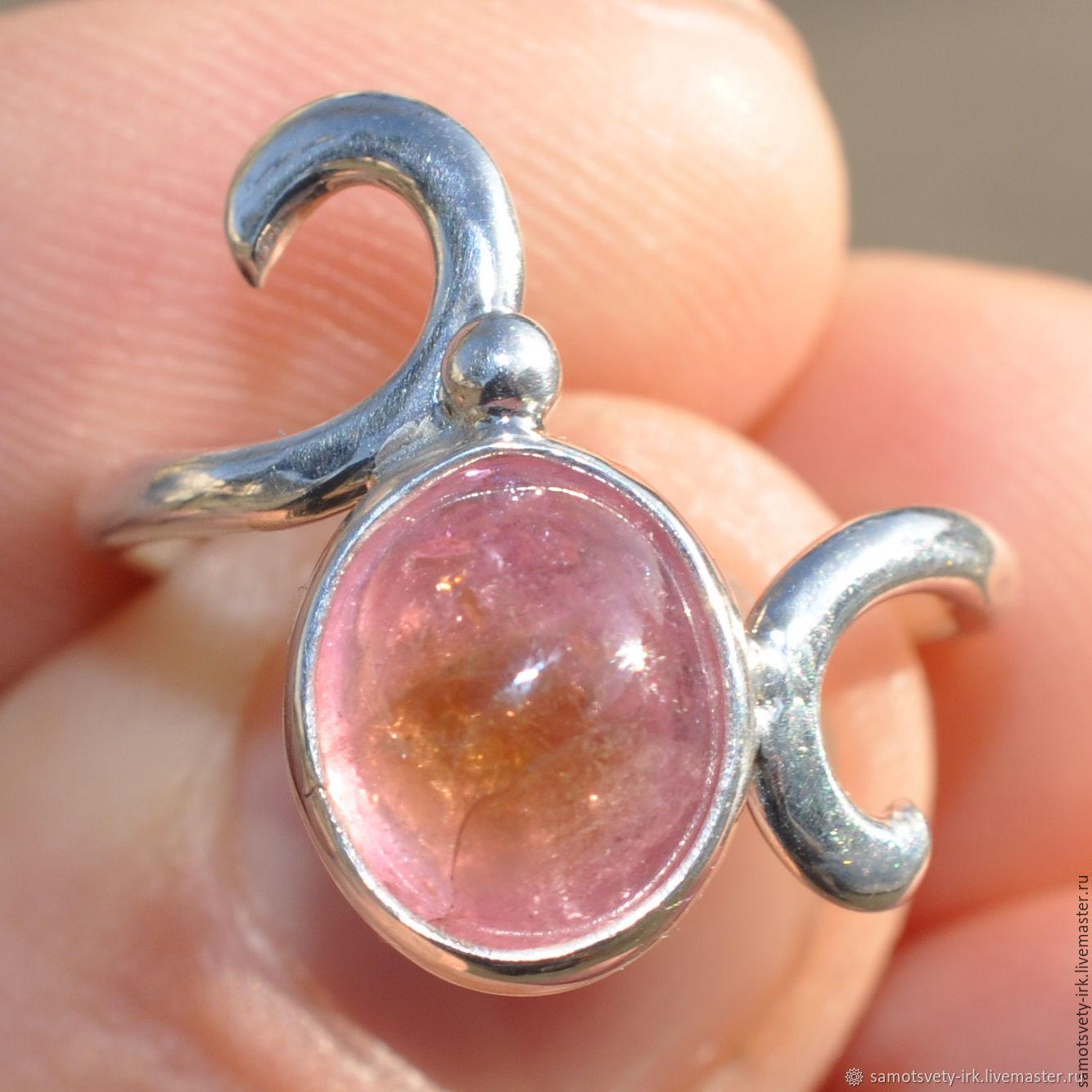 Ring with tourmaline rose Petal, Rings, Irkutsk,  Фото №1
