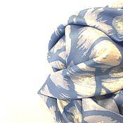 """Аксессуары ручной работы. Ярмарка Мастеров - ручная работа Натуральный шёлковый платок из ткани Chanel""""Роза""""небо.. Handmade."""