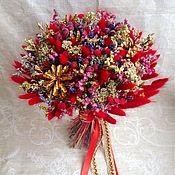 """Цветы и флористика ручной работы. Ярмарка Мастеров - ручная работа Букет """"Красное золото"""". Handmade."""