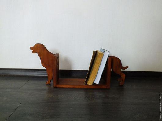 """Мебель ручной работы. Ярмарка Мастеров - ручная работа. Купить Полка для книг """"Собачка"""". Handmade. Коричневый, собачка, любителям собак"""