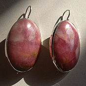 Украшения handmade. Livemaster - original item Elegant earrings RHODONITE,silver 925.. Handmade.