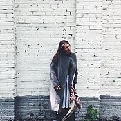 Одежда ручной работы. Ярмарка Мастеров - ручная работа SALE Шуба из серой овчины с дизайнерским кроем. Handmade.