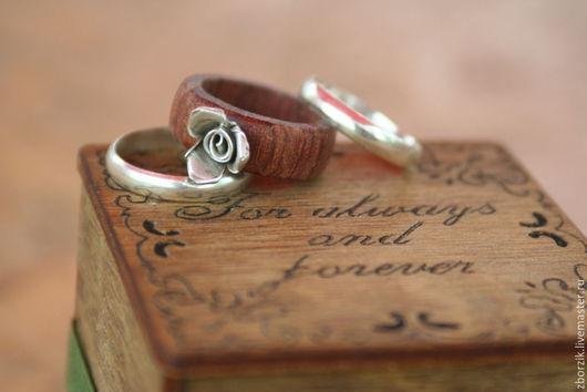 Кольца ручной работы. Ярмарка Мастеров - ручная работа. Купить Бубинго+серебро. Handmade. Подарок девушке, обрачальные кольца, кольцо из дерева