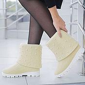 Обувь ручной работы. Ярмарка Мастеров - ручная работа Валяные полусапожки Зима. Handmade.