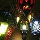 """Освещение ручной работы. Люстра из цветного стекла """"1000 и 1 ночь"""". Mantipa 123. Интернет-магазин Ярмарка Мастеров. Восток"""