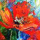 """Картины цветов ручной работы. Заказать """"Движение в Потоке"""" - авторская картина с маками маслом на холсте. ЯРКИЕ КАРТИНЫ Наталии Ширяевой. Ярмарка Мастеров."""