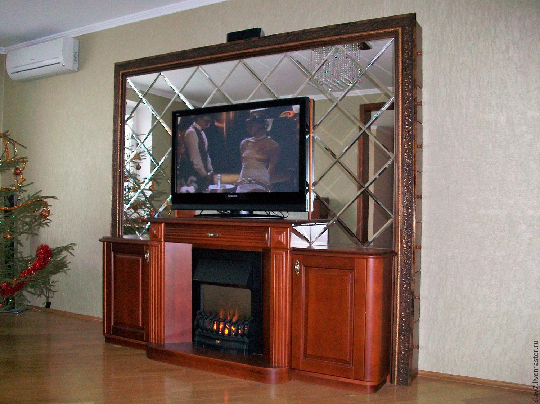тумба под телевизор с камином длинная