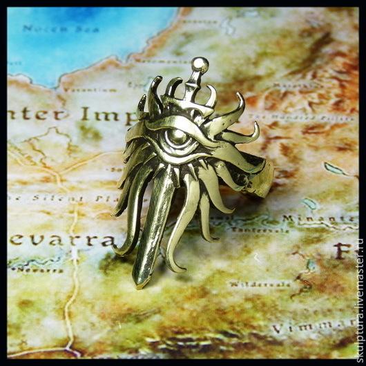 """Подарки для мужчин, ручной работы. Ярмарка Мастеров - ручная работа. Купить """"Кольцо Инквизитора"""" кольцо по игре Dragon Age. Handmade."""