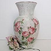 Для дома и интерьера ручной работы. Ярмарка Мастеров - ручная работа Ваза для цветов Осенние розы. Handmade.