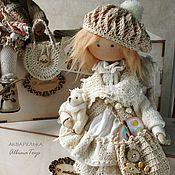 Куклы и игрушки ручной работы. Ярмарка Мастеров - ручная работа Акварелька. Текстильная коллекционная кукла ангел. Бохо стиль.. Handmade.