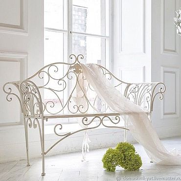 Для дома и интерьера ручной работы. Ярмарка Мастеров - ручная работа Металлический диван скамейка со спинкой. Handmade.