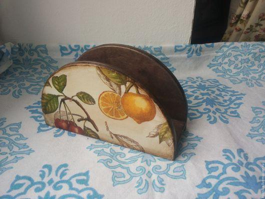 """Кухня ручной работы. Ярмарка Мастеров - ручная работа. Купить Салфетница """"Фруктовое настроение"""". Handmade. Комбинированный, фрукты, подарок"""