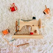 Техника, роботы, транспорт ручной работы. Ярмарка Мастеров - ручная работа Швейная машинка детская. Игрушка из дерева.. Handmade.