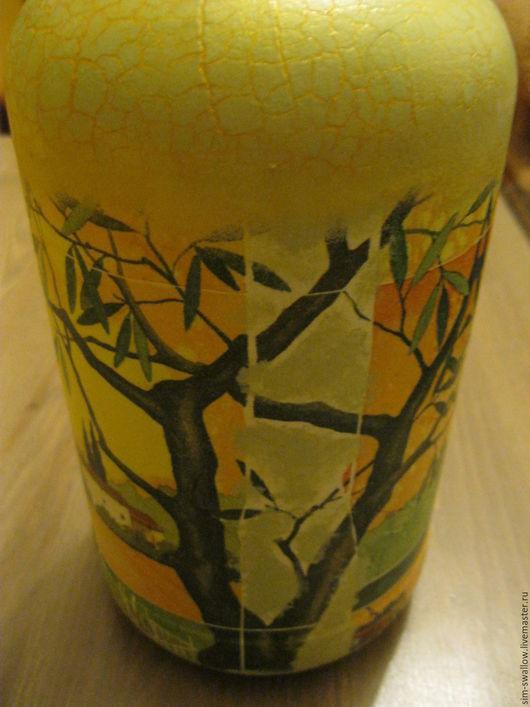 """Графины, кувшины ручной работы. Ярмарка Мастеров - ручная работа. Купить Бутылка-ваза """"Мои вина"""". Handmade. Бледно-розовый"""