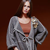 Одежда ручной работы. Ярмарка Мастеров - ручная работа Пальто вязаное авторское. Handmade.