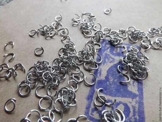 Для украшений ручной работы. Ярмарка Мастеров - ручная работа. Купить Кольцо соединительное 6  мм. (Золото,серебро,бронза). Handmade.