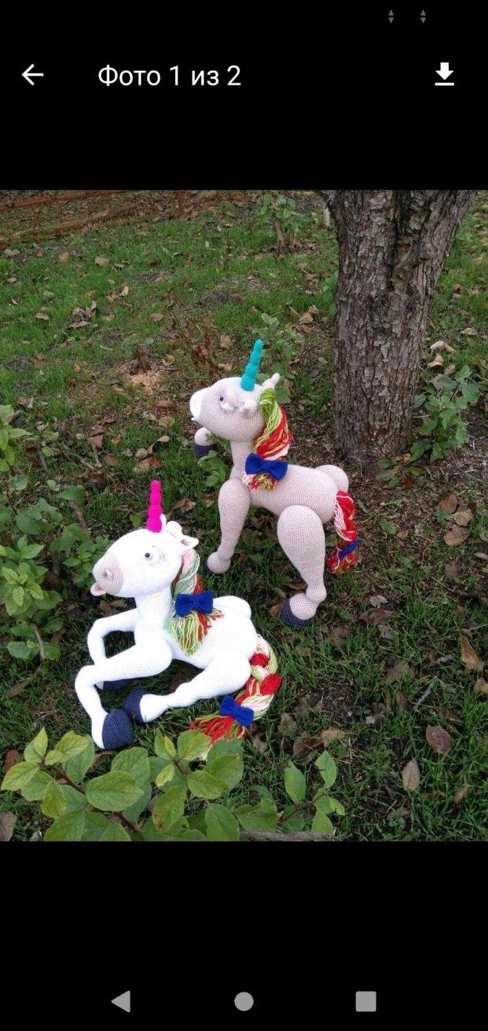 Единорог, Вязаная игрушка, Мягкие игрушки, Краснодар,  Фото №1
