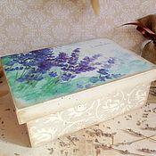 Для дома и интерьера ручной работы. Ярмарка Мастеров - ручная работа Lavender - короб с отделениями. Handmade.