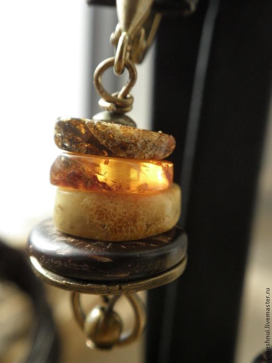 Серьги ручной работы. Ярмарка Мастеров - ручная работа. Купить Серьги янтарные Солнце в янтаре. Handmade. Янтарь серьги, лето