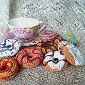 """Куклы и игрушки ручной работы. Ярмарка Мастеров - ручная работа Сладкий счет для малышей """"Аппетитные пончики"""". Handmade."""