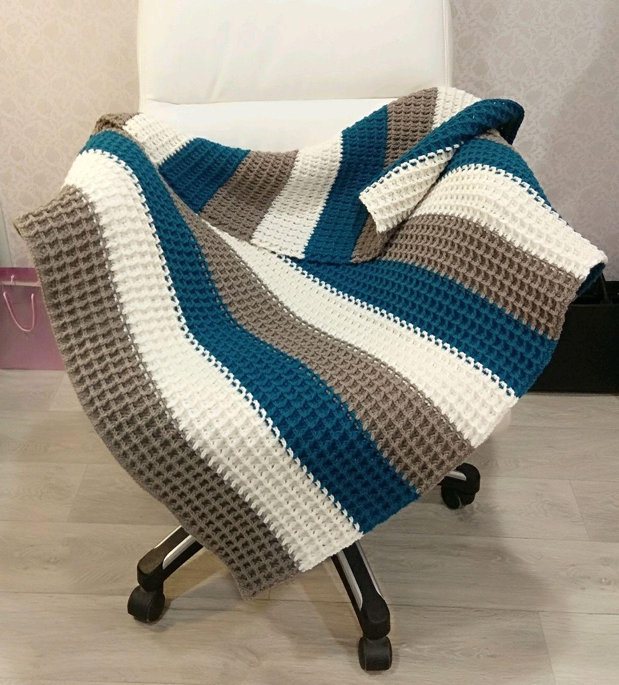 Crochet Baby Blanket Baby Boy Blanket Newborn Gift Baby Boy Gift